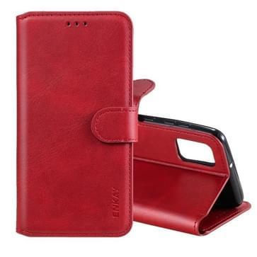 Voor Samsung Galaxy A31 ENKAY Hat-Prince horizontale flip lederen hoes met Holder & Card Slots & Wallet(Red)