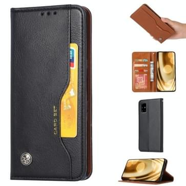 Voor Samsung Galaxy Note 20 Knead Skin Texture Horizontale Flip Lederen Case met Photo Frame & Holder & Card Slots & Wallet(Zwart)