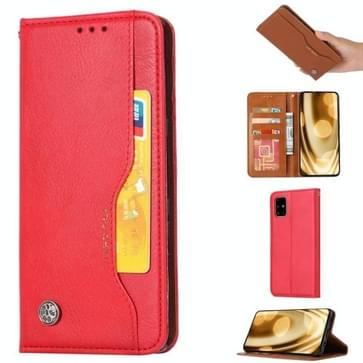Voor Samsung Galaxy Note 20 Knead Skin Texture Horizontale Flip Lederen Case met Photo Frame & Holder & Card Slots & Wallet(Red)