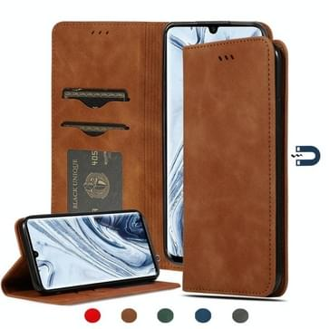 Voor Xiaomi Mi CC9 Pro / Note 10 / Note 10 Pro Retro Skin Feel Business Magnetic Horizontal Flip Leather Case (Bruin)