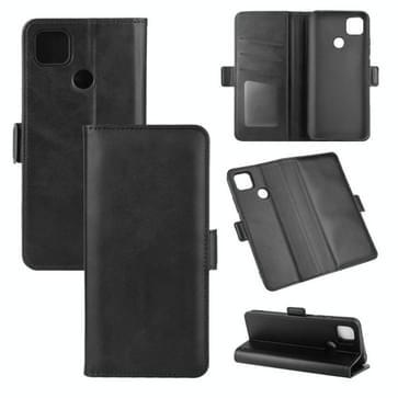 Voor Xiaomi Redmi 9C Dual-side Magnetic Buckle Horizontale Flip Lederen Case met Holder & Card Slots & Wallet(Zwart)