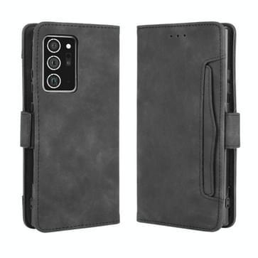 Voor Samsung Galaxy Note20 Ultra Wallet Style Skin Feel Calf Pattern Leather Case met aparte kaartsleuf (zwart)