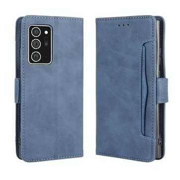 Voor Samsung Galaxy Note20 Ultra Wallet Style Skin Feel Calf Pattern Leather Case met aparte kaartsleuf (blauw)