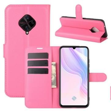 Voor Vivo V17(Rusland)/X50 Lite/Y9S/S1 Pro Litchi Texture Horizontale Flip Beschermhoes met Holder & Card Slots & Wallet(Rose red)