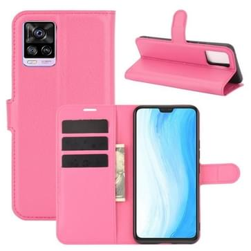 Voor Vivo S7 5G Litchi Texture Horizontale Flip Beschermhoes met Holder & Card Slots & Wallet(Rose red)