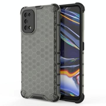 Voor OPPO Realme 7 Pro Shockproof Honeycomb PC + TPU Case(Grey)