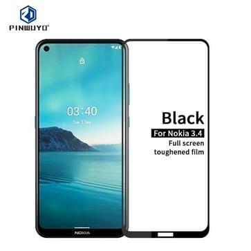 Voor Nokia 3.4 PINWUYO 9H 2.5D Full Screen Tempered Glass Film(Zwart)