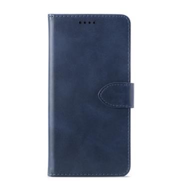 Kalf textuur horizontale Flip lederen case voor Huawei Y6 2019/Y6 Pro 2019  met houder & kaartsleuven & portemonnee (blauw)