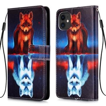 Voor iPhone 11 Pro Max 3D visuele schilderij horizontale Flip lederen draagtas met houder & Card slot & portemonnee & Lanyard (Fox)
