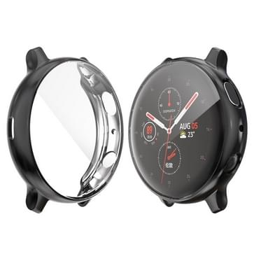 Voor Samsung Galaxy Watch Active 2 40mm ENKAY Hat-Prins volledige dekking Electroplate TPU case (zwart)
