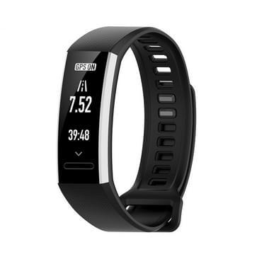 Voor Huawei Band 2 Pro / Band 2 / ERS-B19 / ERS-B29 Sports Bracelet Siliconen band (Zwart)