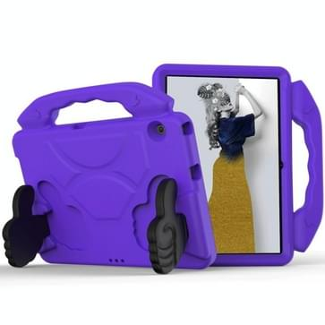 Voor Huawei MediaPad T3 10 1 inch EVA-kinderen falling proof flat protective shell met duimbeugel(paars)