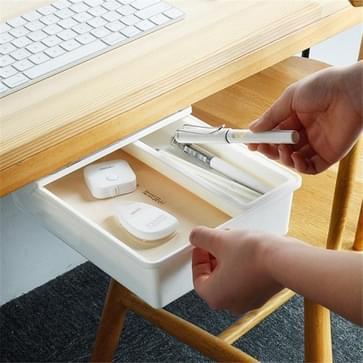 Verborgen desktop briefpapier opslagbox Creative Office Desk Bottom Stick Pen houder  grootte:Midden