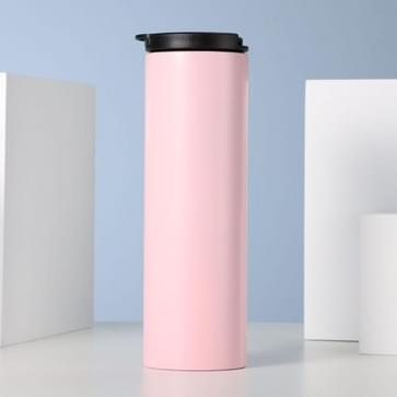 Gepersonaliseerde Sports Water Cup Stainless Steel Portable Thermos Cup  Capaciteit:101-500ml (Roze)