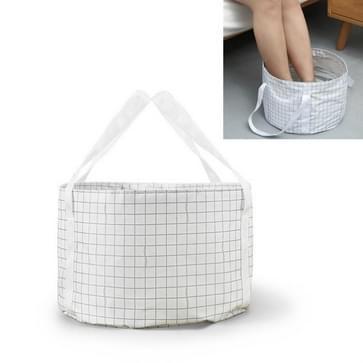 Draagbare opvouwbare waterbassin Travel Bubble Foot Bag Wasbekken (Beige)