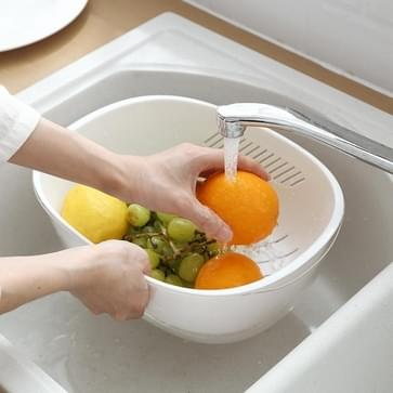 Dubbeldekker Sink Drain Basket Creative Household Fruit Plate Kleur Random Delivery
