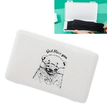 10 PCS Creative Disposable Mask Storage Box Home Travel Portable Mask Storage  Style:Bear