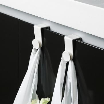 10 PCS / 5 sets Plastic Haak voor household storage cabinet deur (Wit)