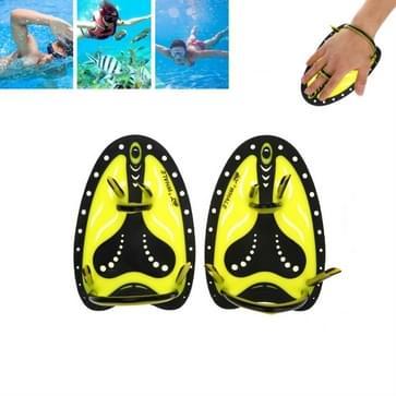 TP200 Tweekleurige zwemhand zwemoefenuitrusting voor beginners  maat:Volwassene L(Geel)