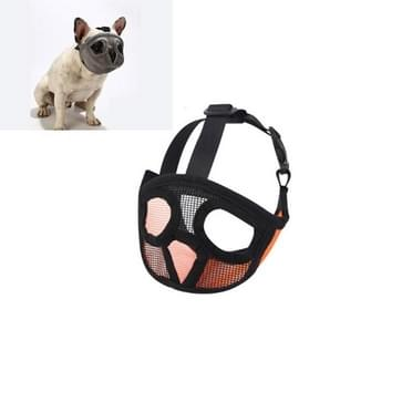 Pet Bulldog Mouth Cover Mask Pet Supplies  Full Net Cover Versie  Grootte: XS (Oranje)