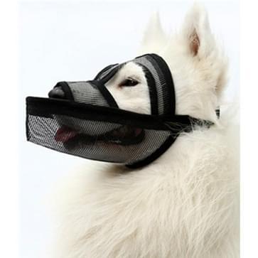 Kleine en middelgrote long-mouth dog mouth cover teddyhond masker  grootte: M (Zwart)
