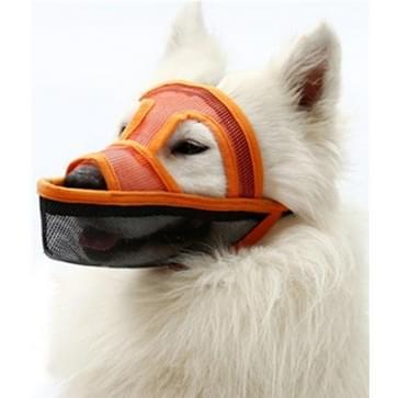 Kleine en middelgrote long-mouth dog mouth cover teddyhond masker  grootte: M (Oranje)