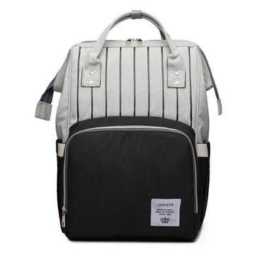Stripe mode multifunctionele moeder tas schat moeder uitgaan rugzak grote capaciteit baby tas (Stripe zwart)