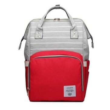 Stripe mode multifunctionele moeder tas schat moeder uitgaan rugzak grote capaciteit baby tas (Stripe rood)