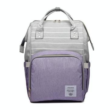 Stripe Fashion multifunctionele moeder tas schat moeder uitgaan rugzak grote capaciteit baby tas (Stripe paars)
