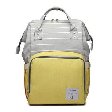 Stripe mode multifunctionele moeder tas schat moeder uitgaan rugzak grote capaciteit baby tas (Stripe geel)