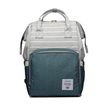 Stripe mode multifunctionele moeder tas schat moeder uitgaan rugzak grote capaciteit baby tas (Stripe groen)