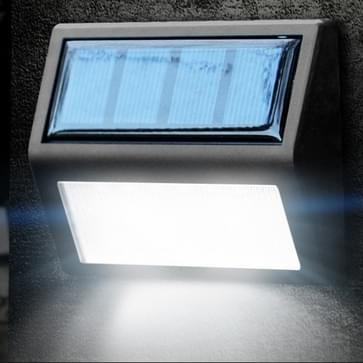 6 LEDs outdoor IP65 waterdichte tuin lamp LED zonne-energie licht sensor nood wand licht (wit licht)