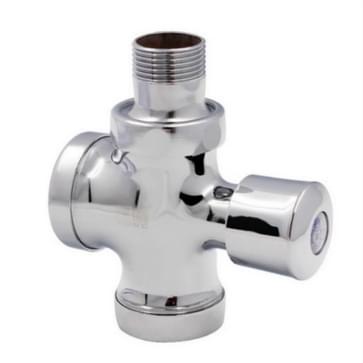 Stool Flush Valve Urinal Delay Valve Hand Press Flush Valve  Style: 1 Inch Alloy Medium