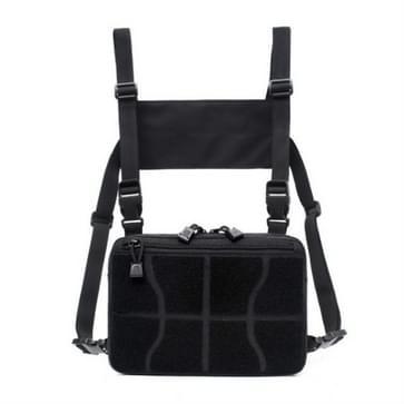 Multifunctionele borsttas voor outdoor sport draagbare opbergrugzak (zwart)