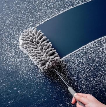 4 PCS Elektrostatische stofverwijderingsveer Duster Huishouden Intrekbaar Buigend Stof verwijderen reinigingsborstel willekeurige kleur
