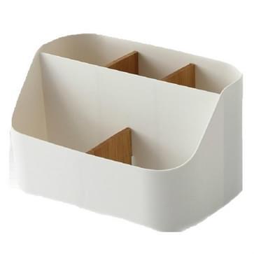 2 PCS Eenvoudige Plastic Multi-opslag Doos Tafel puin afwerking doos Student Slaapzaal compartiment opbergdoos (Wit)