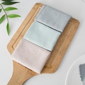 7 PCS Fish Scale Lattice Keuken Schoonmaken zonder watermerk vodden huishoudelijke waterabsorptie lint-vrij Reiniging Rag Random Color Delivery