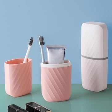 4 PCS Travel Wash Cup tandenborstel tandenborstel opbergdoos draagbare mondwater set willekeurige kleur