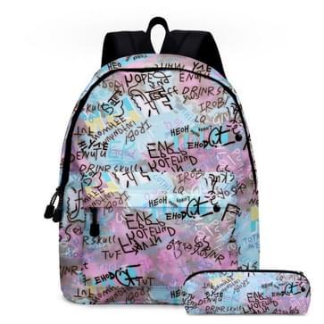 2 in 1 Tie-dye Serie Backpack Kinderen Schoolbags Potlood Tassen  Grootte: 16 inch (Tie Dye Series 03)