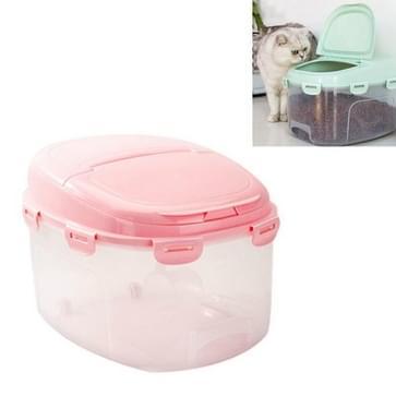 Pet Food Storage Barrel vochtbestendige opslag doos Pet Supplies (Roze)