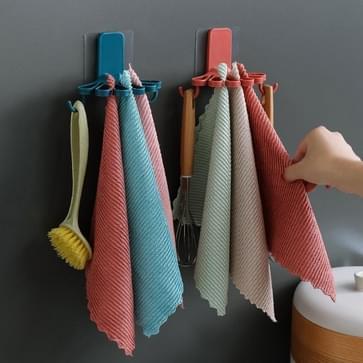 10 PCS Bloemvormige Rag Rack Keuken met Haak Opslag Rack Muur opknoping gratis ponsje lepel rack willekeurige kleur levering