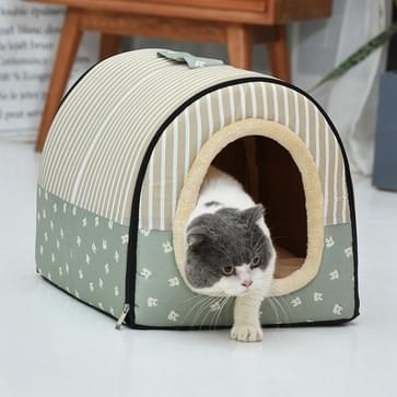Dog Kennel Verwijderbaar & Wasbaar Pet Bed Herfst Winter Pet Supplies  Specificatie: M(Green Cartoon)