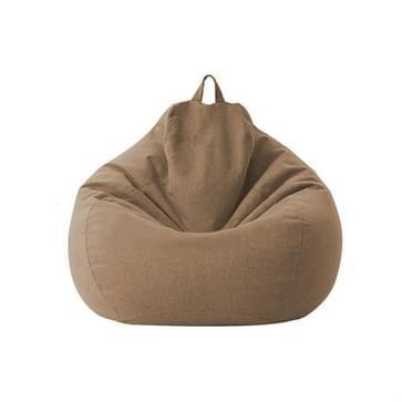 Lazy Sofa Bean Bag Chair Fabric Cover  Maat: 70x80cm (Bruin)