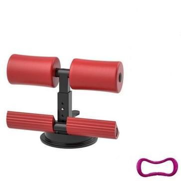 Zuignap buikkrulling Sit-up Aid Huishoudelijke vest lijn  stijl: zonder trekkoord (Rood)