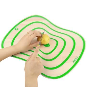6 PCS Kitchen Chopping Blocks Flexible Transparent PP Cutting Boards M(30.5x23.5cm)(Green)