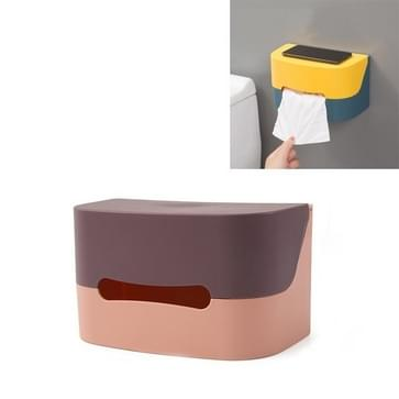 3 PCS ToiletPapier handdoek rekken huishouden Punch-vrije sanitaire lade Creatieve Waterdichte Papier Roll Reel (Bruin)