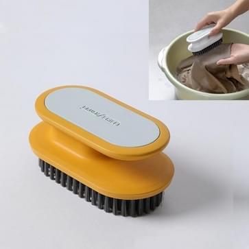 5 PC's A075 Plastic zacht haar wassen schoenen schoen borstel schoonmaken borstel kleren wasbad borstel (geel)