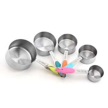 5 in 1 Roestvrij stalen maatlepel Set Coffee Spoon Bakken Keuken Gadget  Style: Het meten van cup (kleur)