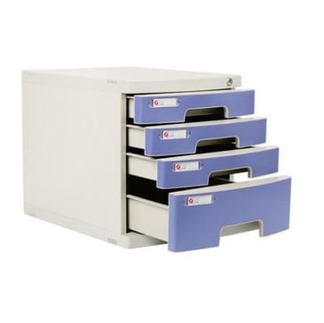 Bureauopslagkast met slotlade type archiefkast opslag afwerking doos  grootte: 4 laag