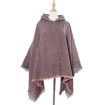 Lente Herfst Winter Geruit patroon Hooded Cloak Sjaal sjaal  lengte (CM): 135cm (DP3-05 Bruin)